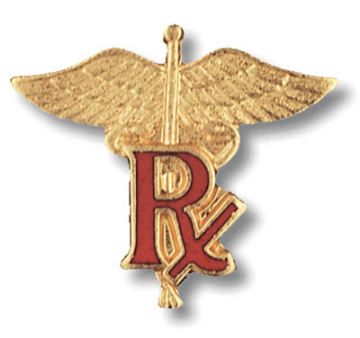 Pharmacist (RX) Pin