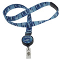 ID Avenue Ribbon Lanyards with Badge Reel
