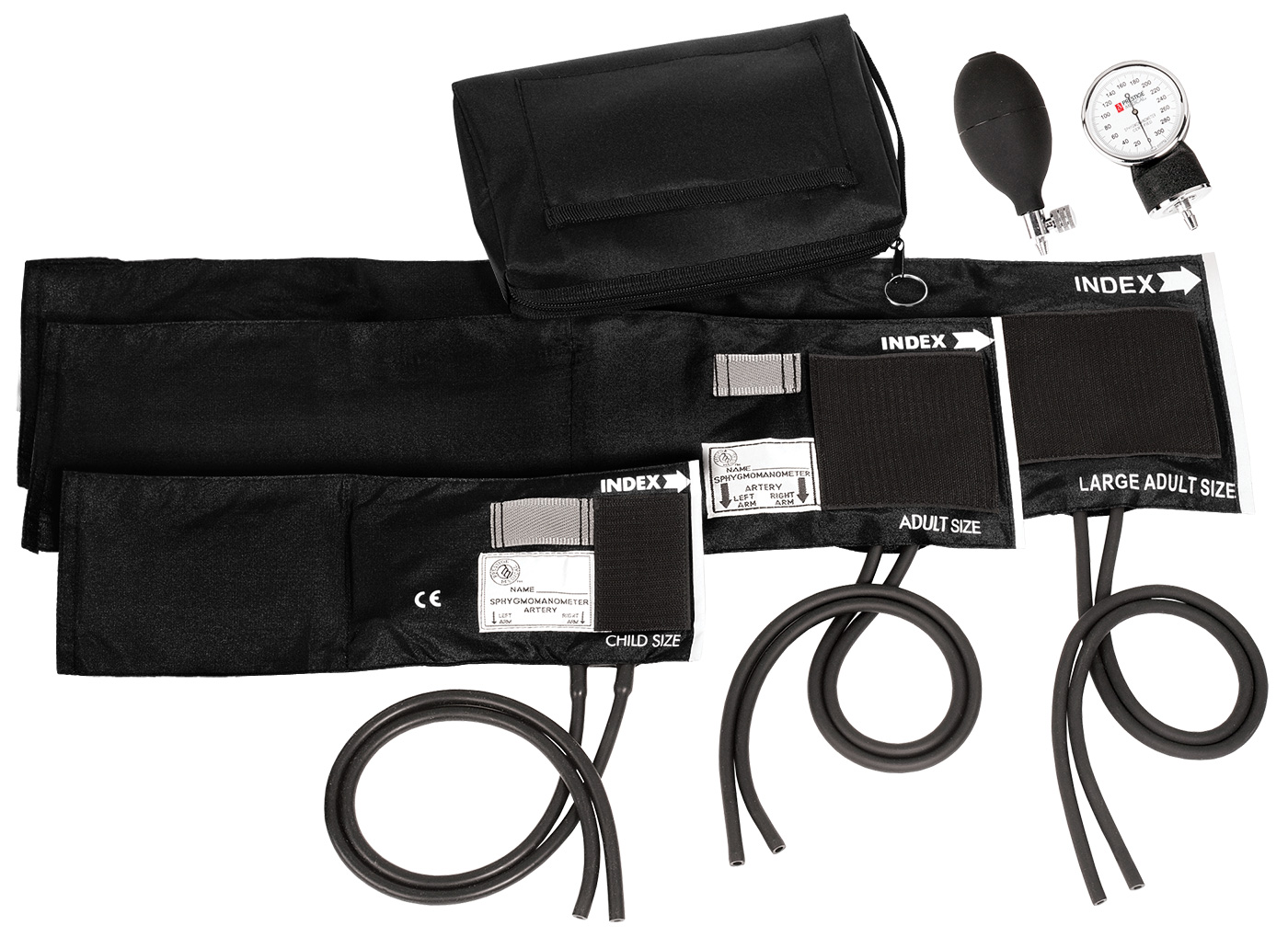 3-in-1 Aneroid Sphygmomanometer Set with Carry Case